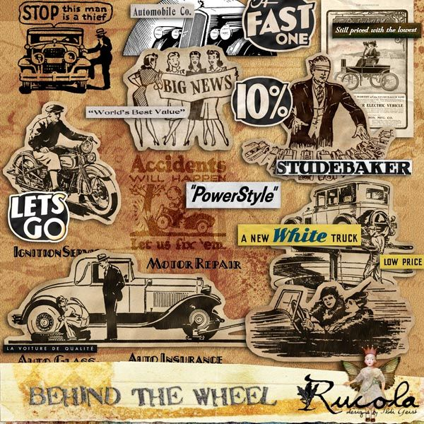by Rucola Designs  Deviant Scrap :: What's New :: Behind The Wheel