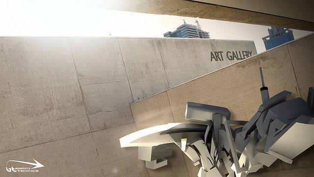 3d graffiti - 'Metra Brisbane Art Gallery | Flickr - Photo Sharing!