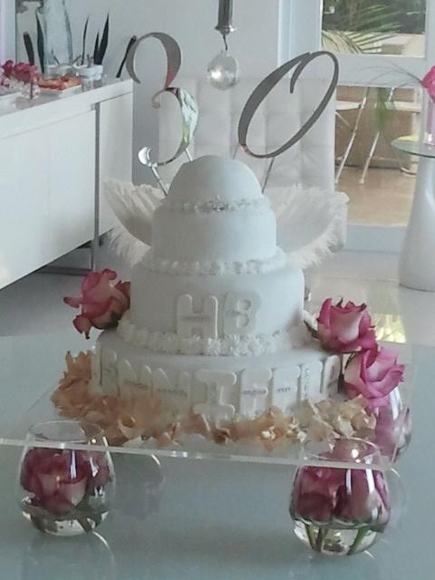 30 th Angel Cake