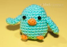 kostenlose Amigurumi Anleitung - kleine Vögel häkeln - kostenlose Häkelanleitung