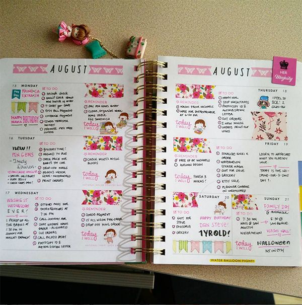 212 best happy planner images on pinterest calendar day for Construction organizer notebook