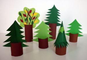 tannen und laubbaum wald pinterest basteln weihnachtsdekoration und dekor. Black Bedroom Furniture Sets. Home Design Ideas