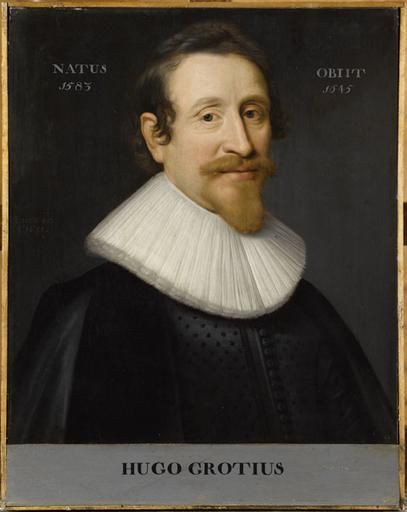 Grotius, Hugo (1583-1645), painting by Jan Van Miereveldt (Chantilly, Musée Condé, PE 121)