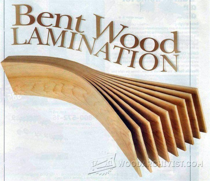 Bent Wood Lamination - Bending Wood Tips and Techniques | WoodArchivist.com