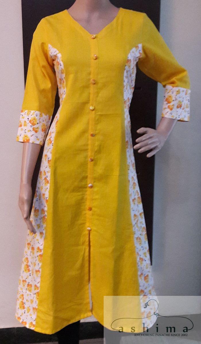 Code:2205170 - Price INR:1490/- , Cotton Kurti.