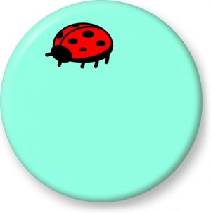 Ladybug simple vector - Button Badge - Brooch - Gift