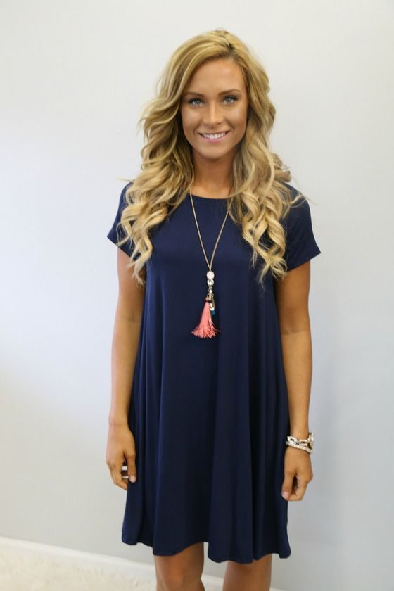 One More Time Dress: Navy