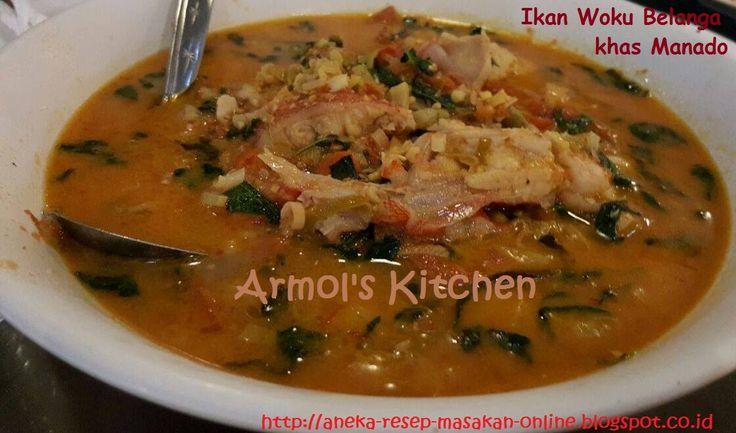 IKAN WOKU BELANGA KHAS MANADO  Ikan diasak dengan bumbu bumbu khas Manado. Yuk simak resepnya  http://aneka-resep-masakan-online.blogspot.co.id/2014/03/resep-ikan-woku-belanga.html