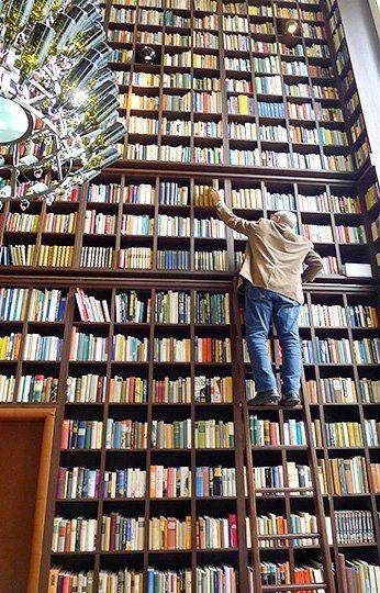 Bibliothèque comme dans les rêves