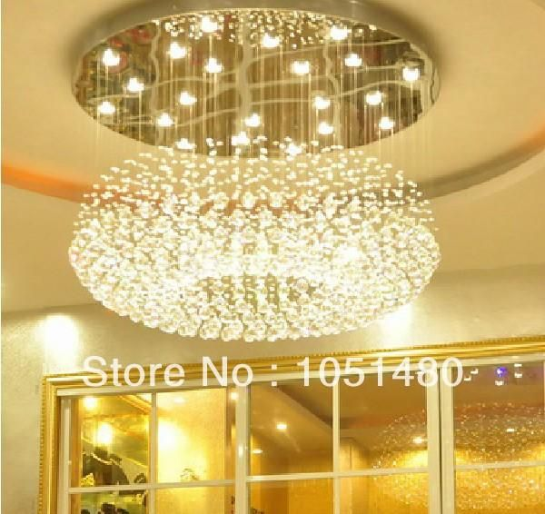 Top S 100 Guaranteed Flush Mount Modern Crystal Chandelier Light Dia600 H350mm Lamp Living Room Lights