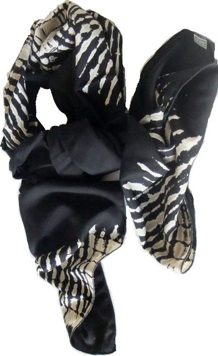 In the Jungle. Black & white tie dyed scarf for A$19.00 #onselz