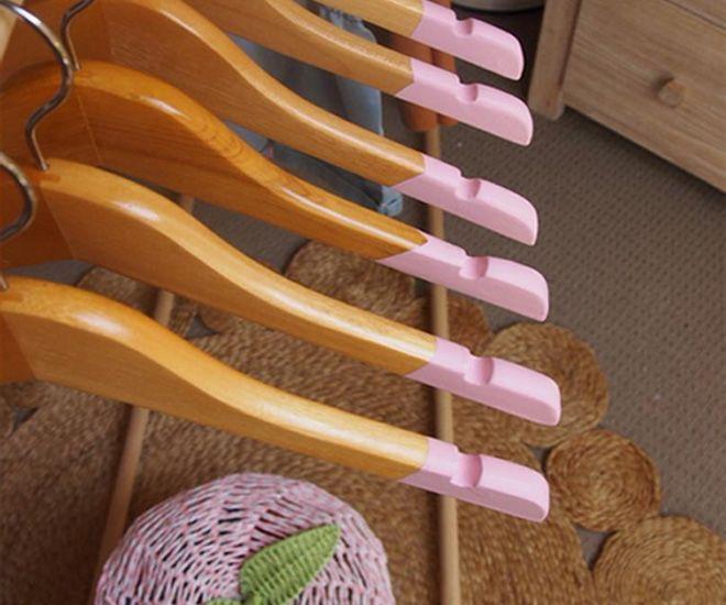Kmart paint-dipped coat hangers
