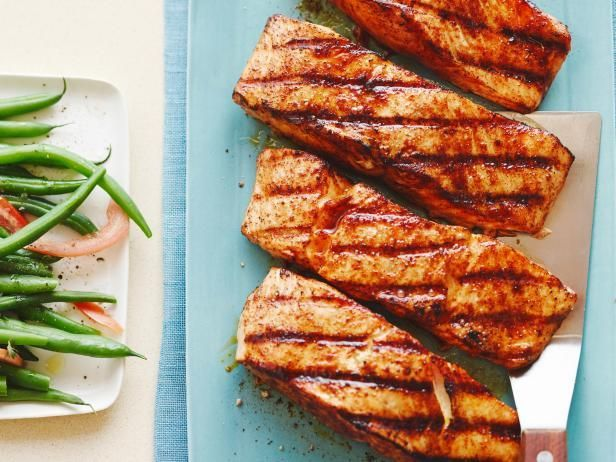 Ready in less than 20 minutes Healthy Salmon with Sweet and Spicy Rub Recipe from Food Network