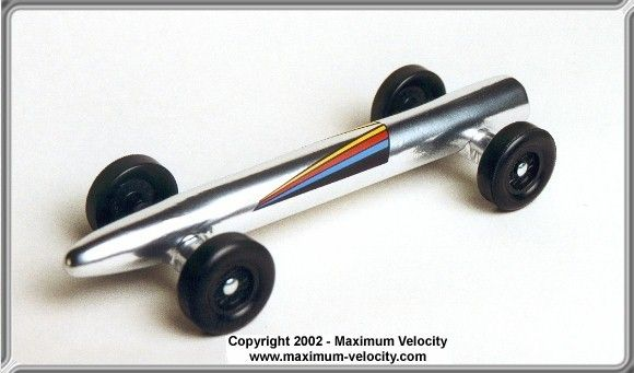 fastest pinewood derby car designs | Standard Rocket Pinewood Derby Car Design
