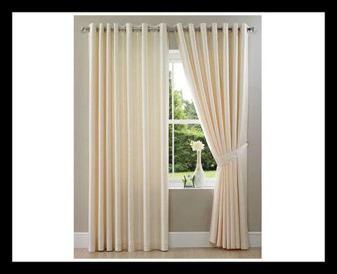 Ring Top Faux Silk Curtain 168 x 183cm