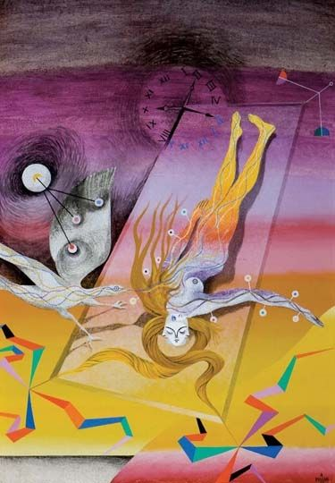 Alfred Pellan, L'heure rapace, 1955, 48x33 in., oil on canvas