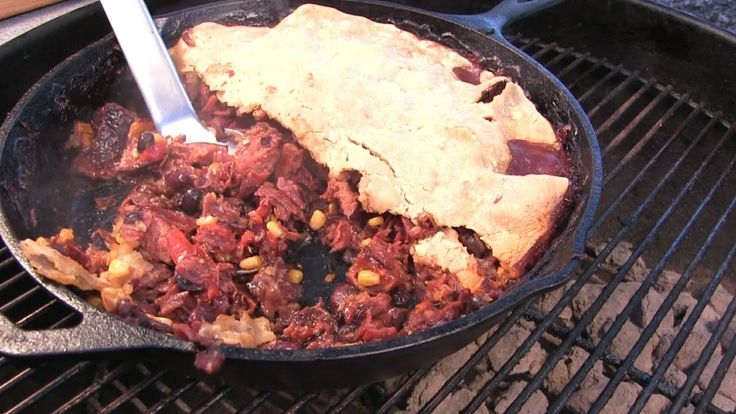 Meat And Bean Pit Pie By The BBQ Pit Boys -- Watch BBQ Pit Boys create this delicious recipe at http://myrecipepicks.com/1232/BBQPitBoys/meat-and-bean-pit-pie-by-the-bbq-pit-boys/
