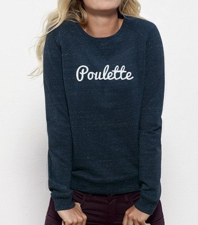 "Sweat femme BIO ""Poulette"" - Lyly Oh - 2"