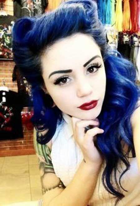 Cabelo Azul Feminino e Masculino: Royal, Turquesa, Escuro, Claro