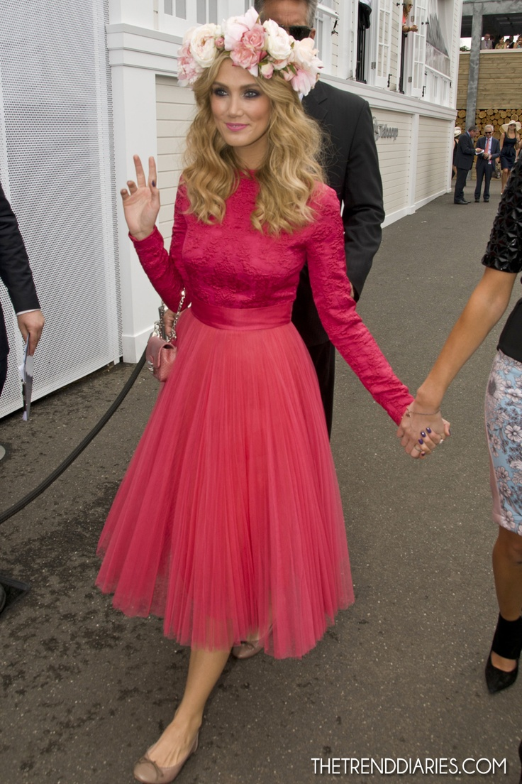 Delta Goodrem at the Emirates Melbourne Cup Horse Races in Melbourne, Victoria, Australia - November 6, 2012 | The Trend Diaries - The Latest Celebrity Style, Fashion, and Beauty Trends
