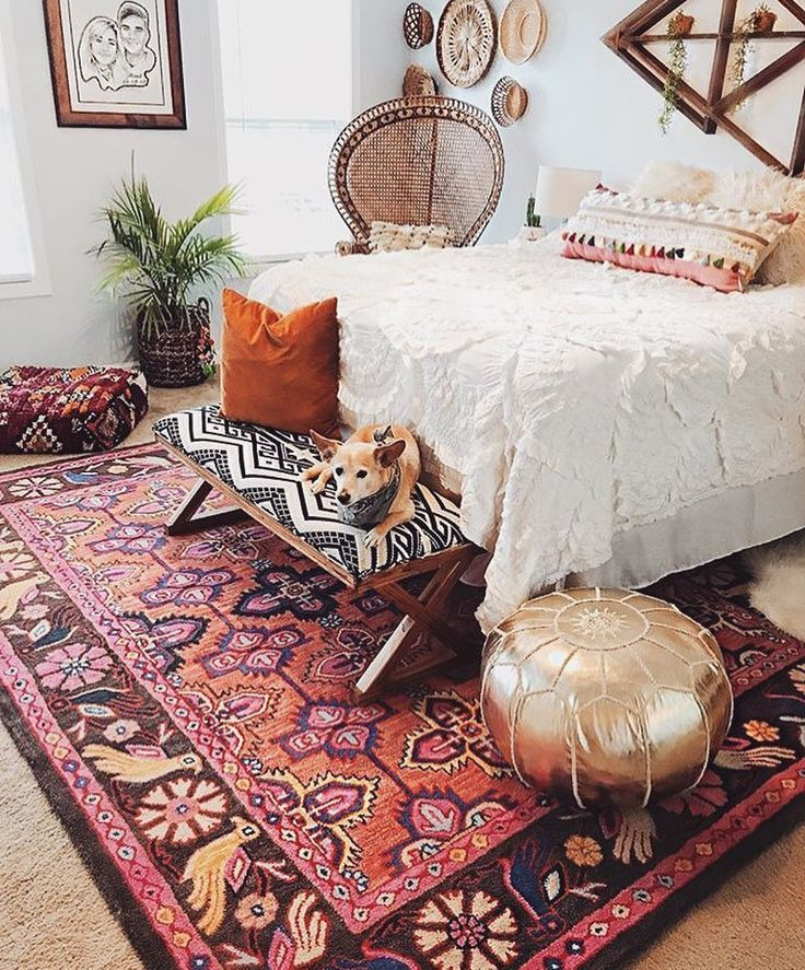This boho bedroom is perfect