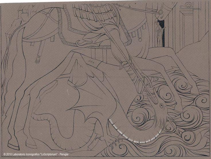 Foto: San Giorgio e il drago disegno della parte inferiore