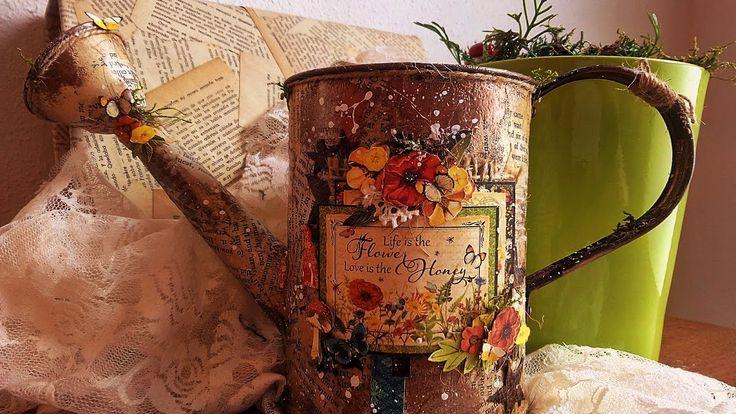 Cómo reciclar y decorar una regadera- TUTORIAL PASO A PASO- Altered wate...