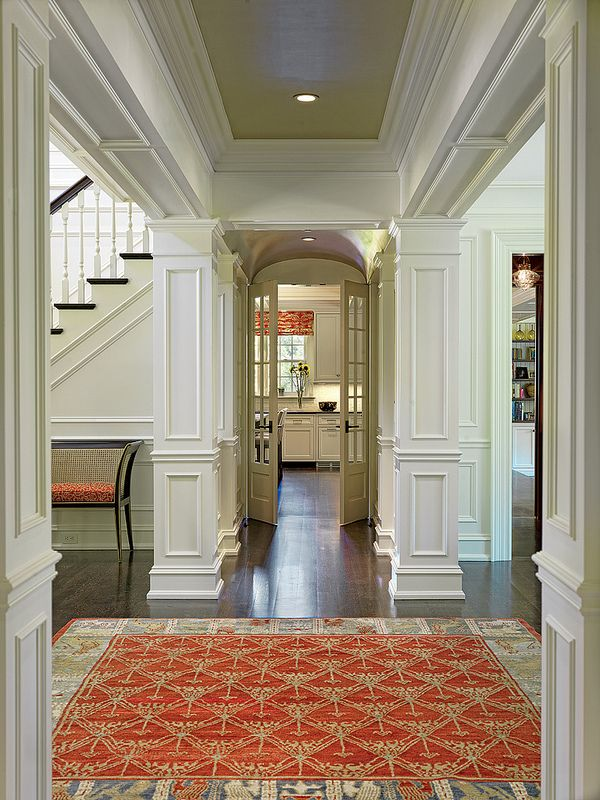 Gorgeous millwork in this inviting hallway!
