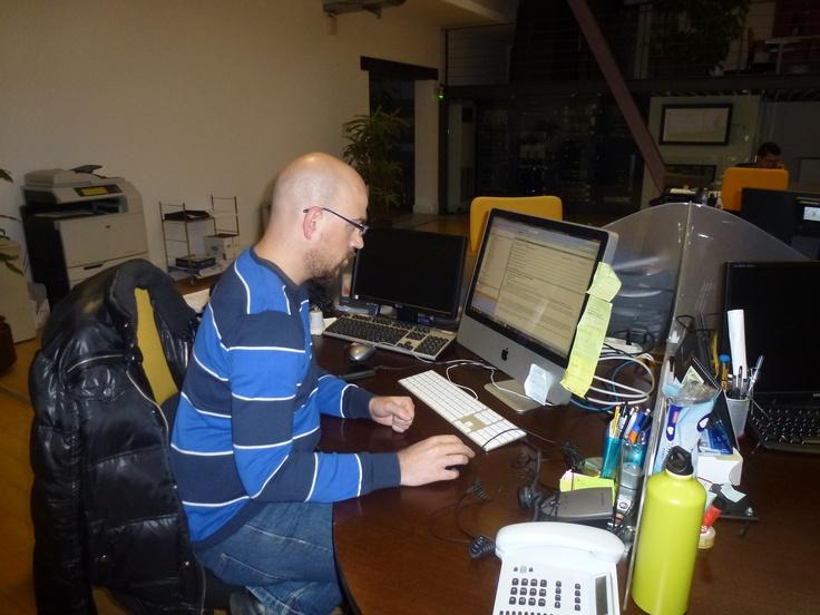 Customer service at work ... hard work ... at Hyphen-
