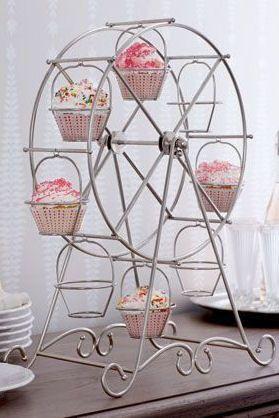 Ferris Wheel Cupcake Holder in White ♥ SO cUte .. L.O.V.E.