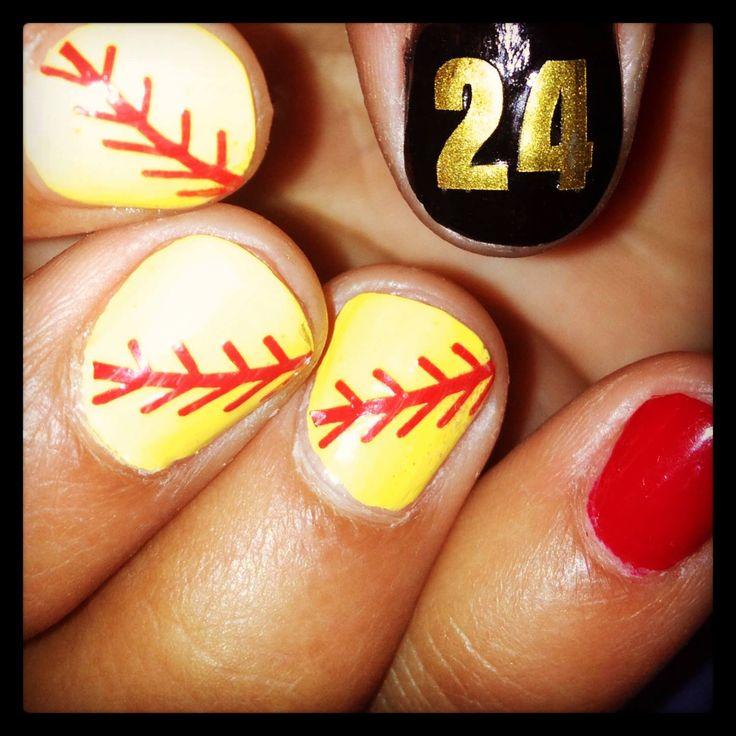 Baseball Thread Nail Art. Softball ... - 21 Best Softball Nails Images On Pinterest Softball Nails