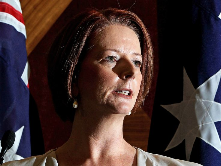 """Sexism and misogyny - after becoming Australia's first female Prime Minister, Julia Gillard swallowed all this and much more, determined to """"tough it out""""."""