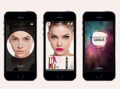 Met deze applicatie test je nieuwe make-up zonder ze aan te brengen
