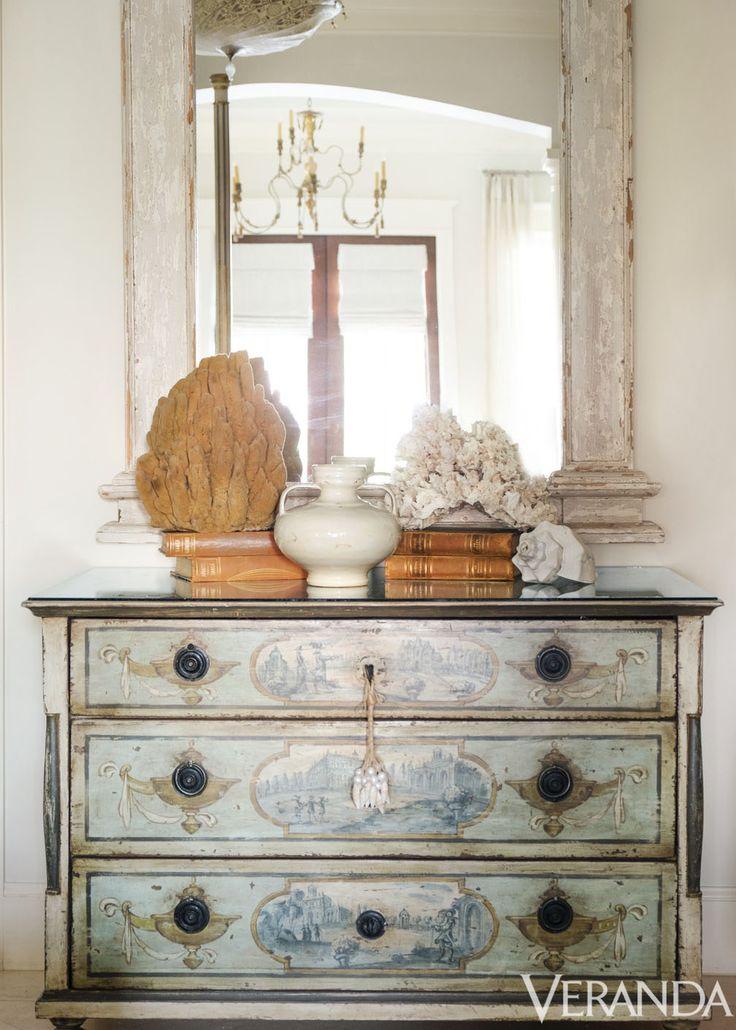 Antique German commode; mirror, Bella Beach.   - Veranda.com