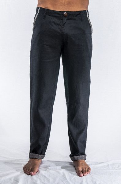 XX!! does it again with this stylish black linen trouser & trim.