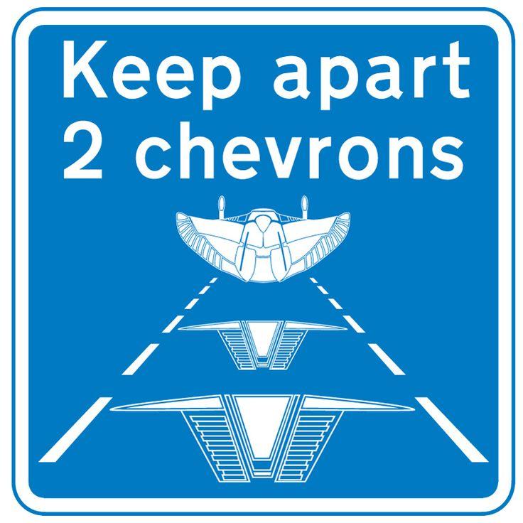 Fans of Stargate and British Motorways will understand this