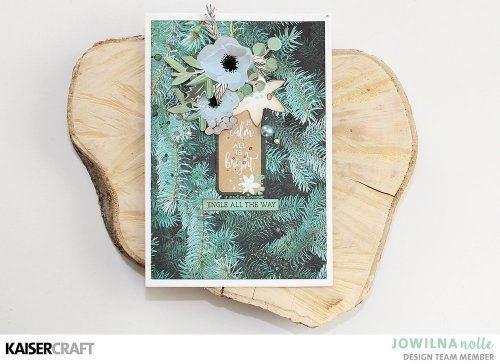"""""""Merry and Bright' Christmas Card Inspiration by Jowilna Nolte Design Team member for Kaisercraft Official Blog featuring their October 2017 'Mint Wishes' collection. Learn more at kaisercraft.com.au - Wendy Schultz - Kaisercraft Projects."""