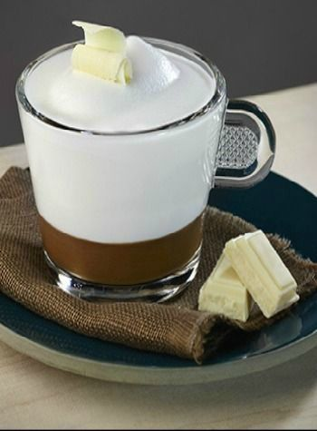 Cappuccino with White Chocolate | Rich and decadent white chocolate-flavored foam encases dark coffee notes for a pairing that is sure to delight.