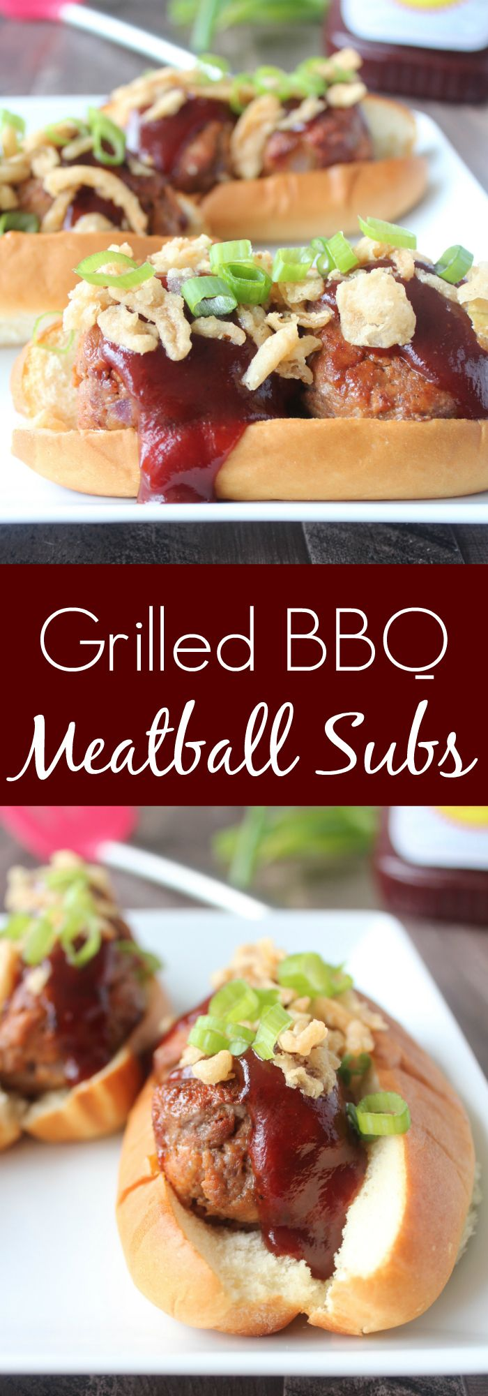 These scrumptious BBQ Meatball Subs on Kings Hawaiian Hot Dog Buns are easily whipped up in 30 minutes, making them perfect for weeknight dinners or weekend BBQs!