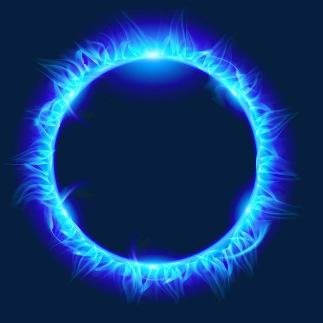 L Anneau De Feu De Combustion A Flamme Bleue Anneau De Feu Fond D Ecran Dessin Paysage Magnifique Dessin