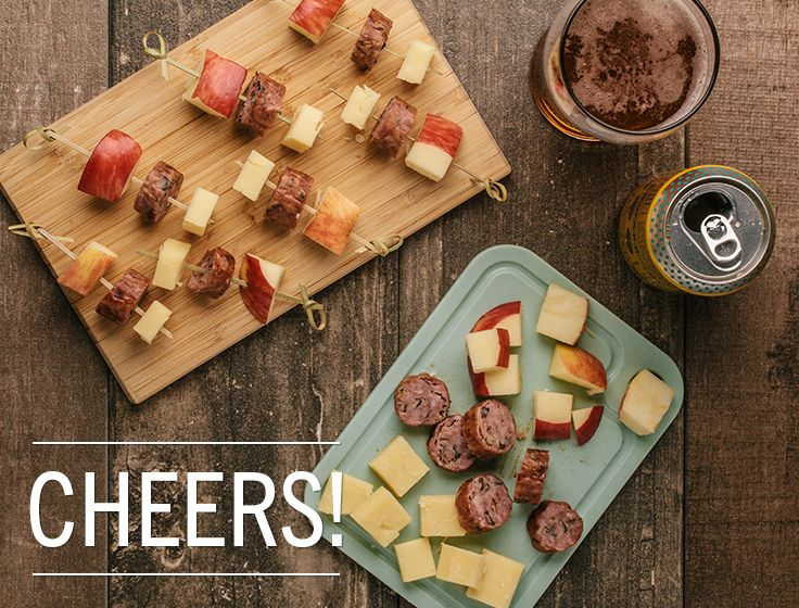 Appetizer idea: Sausage apple cheese skewersThis easy appetizer only requires three ingredients: • Lunds & Byerlys wild rice smoked sausage or cooked bratwurst, available in our meat department •...