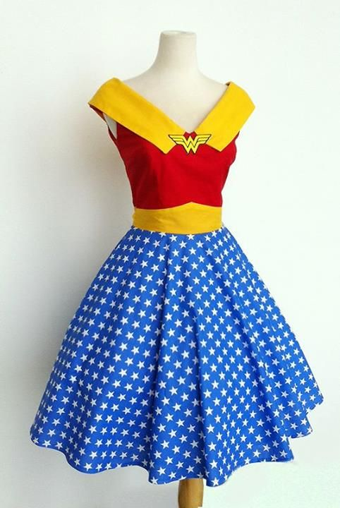 Wonder Woman Dress-I TOTALLY want this