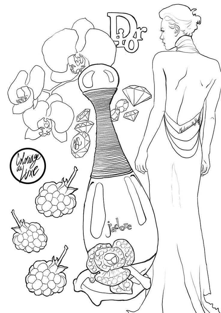 Mademoiselle Stef - Blog Mode, Dessin, Paris | Coloriage : J'adore Dior | http://www.mademoisellestef.com