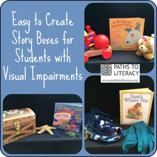 Tips to create story boxes for students who are blind or visually impaired