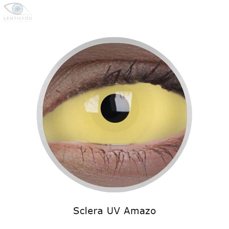 Lenti a contatto colorate SCLERA FLUORESCENTI AMAZO 22mm COSPLAY tutto l'occhio| Lenti4YOU