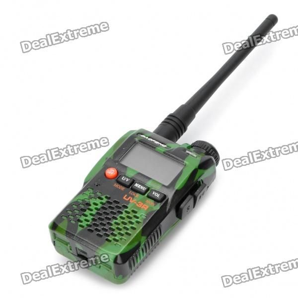 "BAOFENG UV-3R 1.4"" LCD 2W 136~174 / 400~470MHz Dual Band Walkie Talkie - Camouflage Green  Price: $47.99"