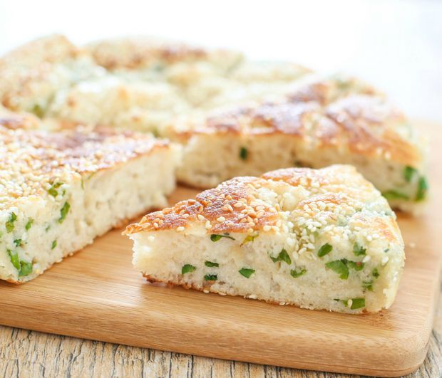Chinese Sesame Bread with Scallions | Kirbie's Cravings | A San Diego food blog