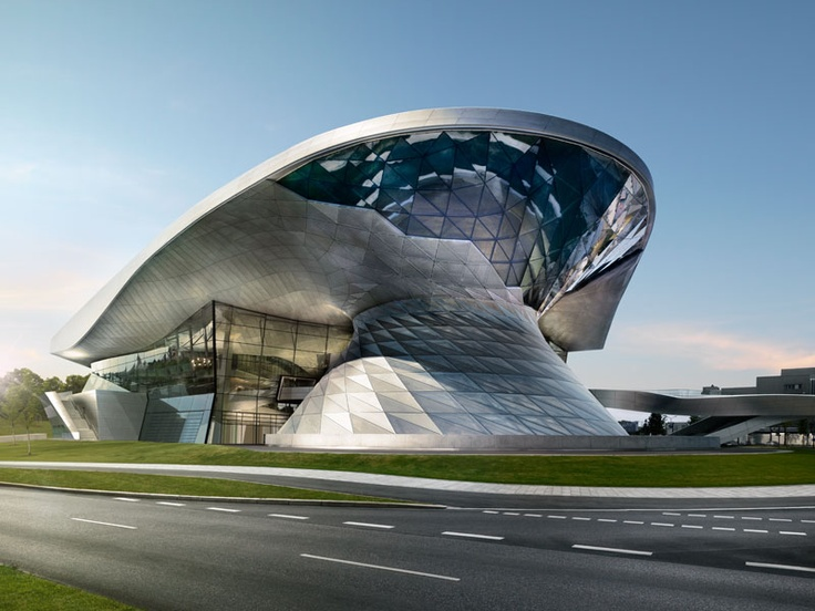 BMW museum in Munich. Found this while looking for a place to get out of the rain.  No signs in sight!