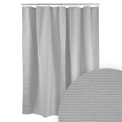 Harman Grey Ribbed Shower Curtain