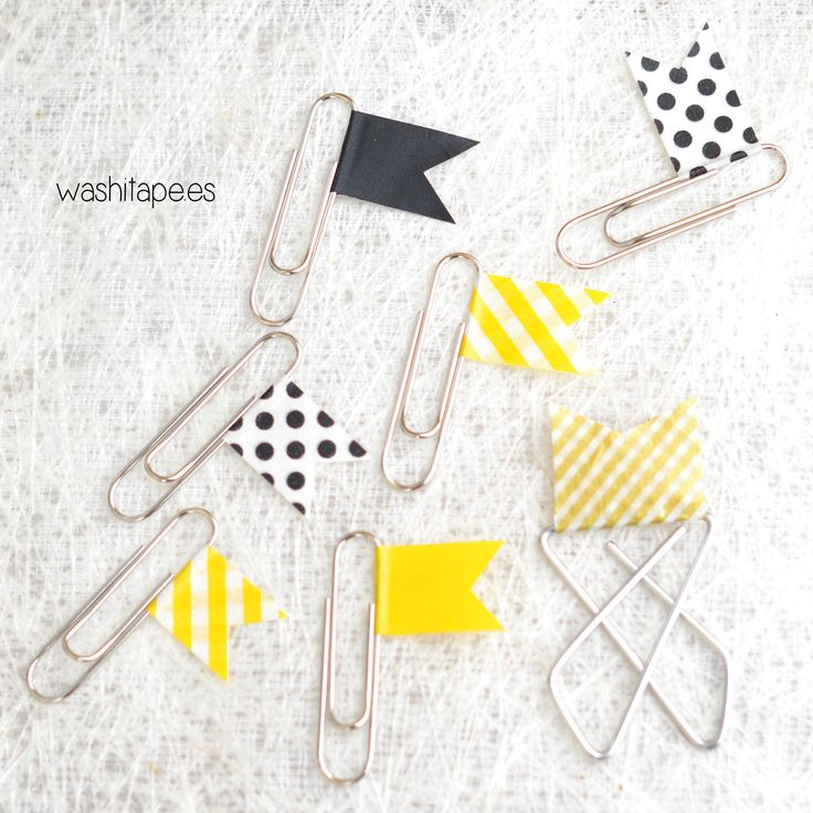 Clips decorados con masking tape Más
